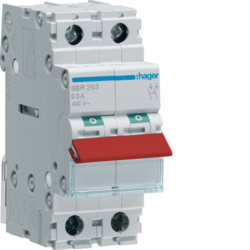 SBR240 2P 40A Switch , Red Toggle
